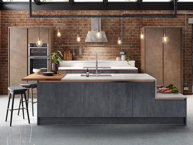 concrete kitchen island - industrial kitchen: 7 stylish additions - kitchen - goodhomesmagazine.com
