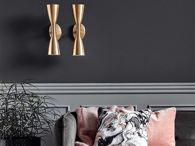 gold double wall lights - 6 unique and stylish ways to use wall lights - inspiration - goodhomesmagazine.com