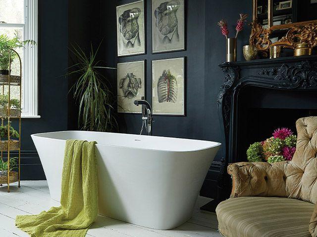 navy traditional bathroom - 6 tips for styling a heritage-style bathroom - bathroom - goodhomesmagazine.com