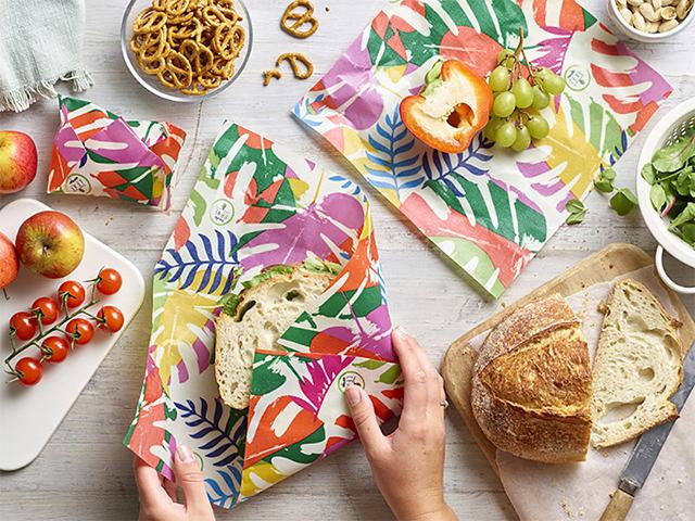 3 Lakeland Reusable Vegan-Friendly Leaf Food Wraps | Good Homes Magazine