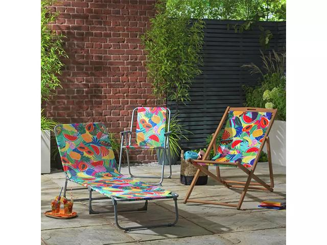 Argos Home Metal Folding Picnic Chair - Ipanema Fruit | Good Homes Magazine