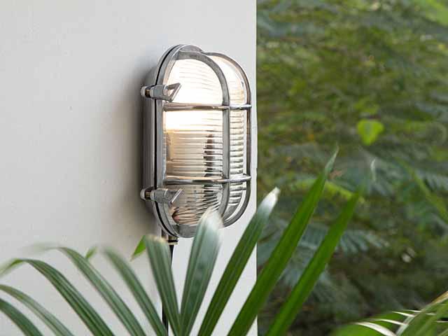 Outdoor light mounted on wall, goodhomesmagazine.com