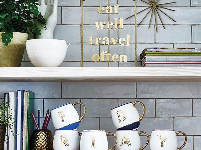 kitchen open shelves - 5 creative ways to decorate your kitchen for free - kitchen - goodhomesmagazine.com
