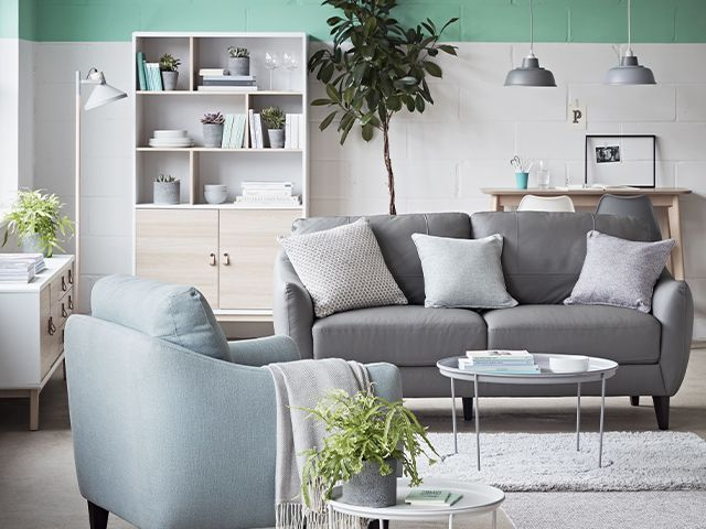 living room mint painrt - 7 ways to update your living room for free - living room - goodhomesmagazine.com