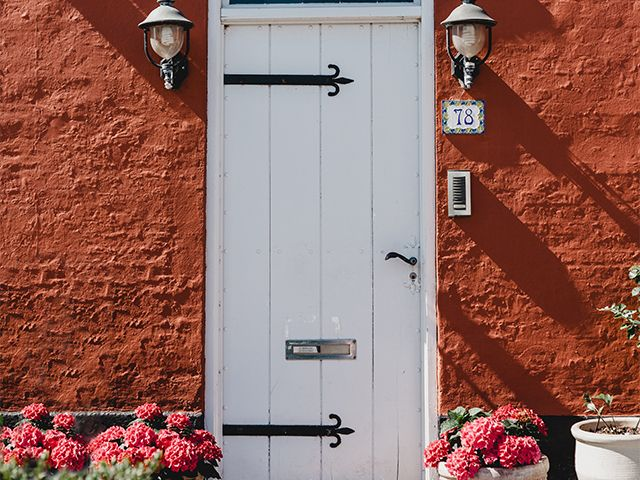 white cottage door - what does the colour of your front door say about you? - inspiration - goodhomesmagazine.com