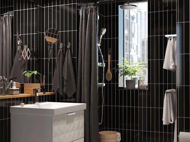 ikea black bathroom - design ideas for statement bathrooms - bathroom - goodhomesmagazine.com