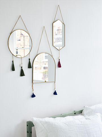 olive bonas tassel mirrors - 5 stylish bathroom mirrors under £50 - bathroom - goodhomesmagazine.com