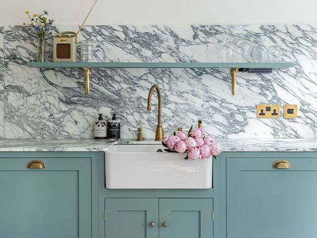 butler sink country kitchen - explore this modern country kitchen in the cotswolds - kitchen - goodhomesmagazine.com