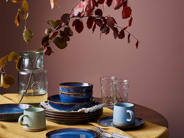 autumnal dining scheme - take a look at tesco's autumn range that launches in stores next week - inspiration - goodhomesmagazine.com