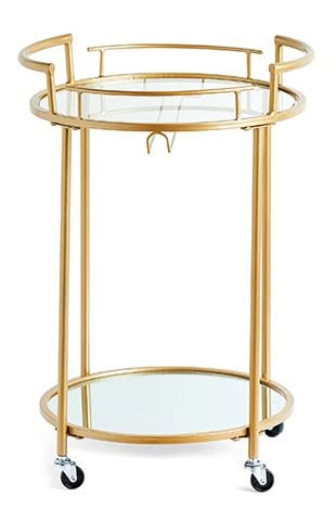 primark cocktail trolley - 8 of the best gold accessories under £50 - shopping - goodhomesmagazine.com