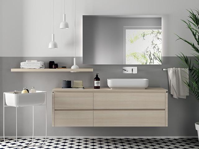 scavolini bathroom with large mirror - goodhomesmagazine.com