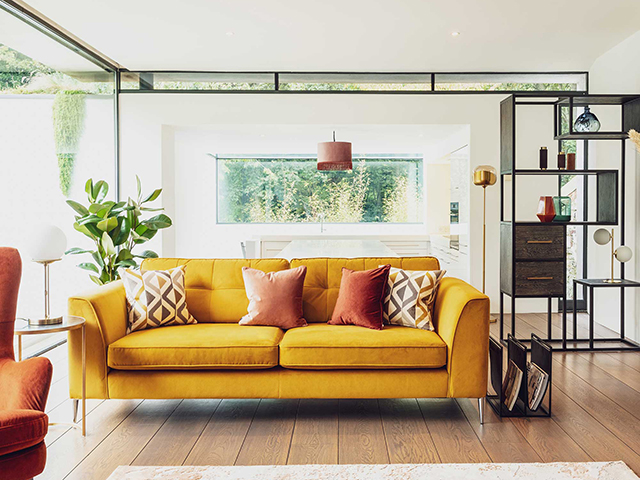 Barker and Stonehouse Conza Large Sofa in Plush Turmeric, £1099