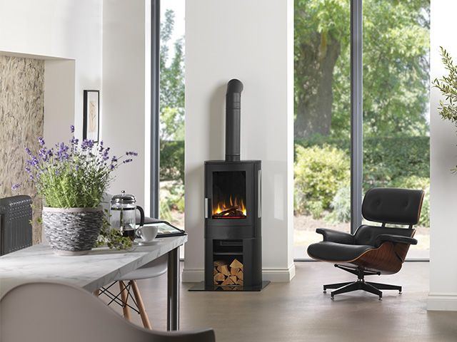 electric woodburner effect - buyer's guide to electric heating - shopping - goodhomesmagazine.com
