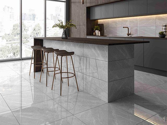marble effect flooring - 6 design ideas for marble kitchens - kitchen - goodhomesmagazine.com