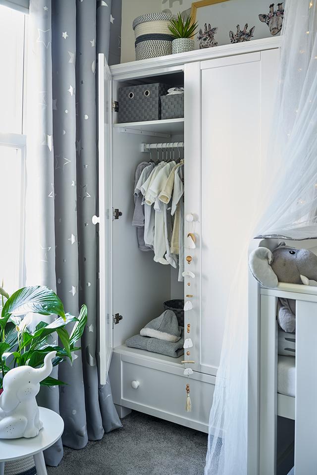 Wayfair Adora Cot Bed 3-Piece Nursery Furniture Set - wardrobe