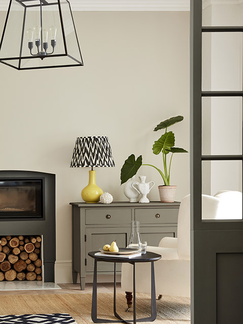 Grey furniture in neutral living room