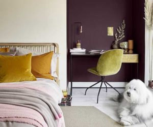 SIMPLY REFRESH - NATUAL HESSIAN, DECADENT DAMSON - BEDROOM, DULUX | Good Homes Magazine