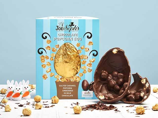 Chocolate popcorn easter eggs, goodhomesmagazine.com