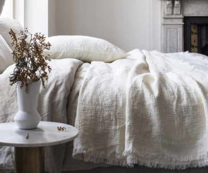 Embrace comfort with 15% off natural linen home accessories