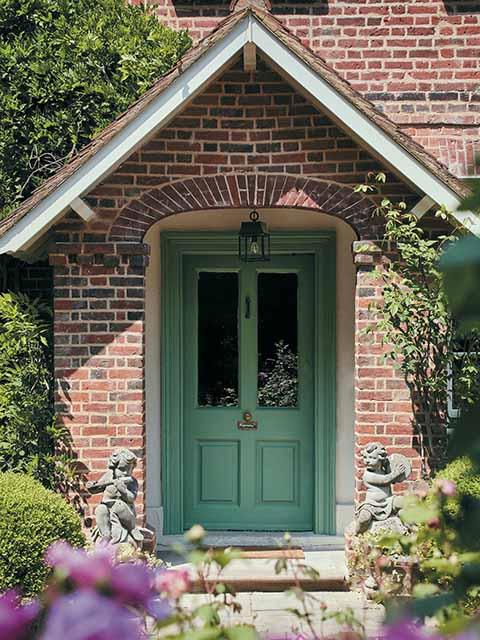 Kerb appeal green front door, goodhomesmagazine.com