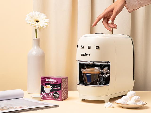 SMEG coffee machine with Lavazza coffee pods