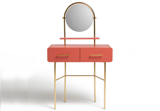 Wilderness two-drawer dressing table in coral, Habitat
