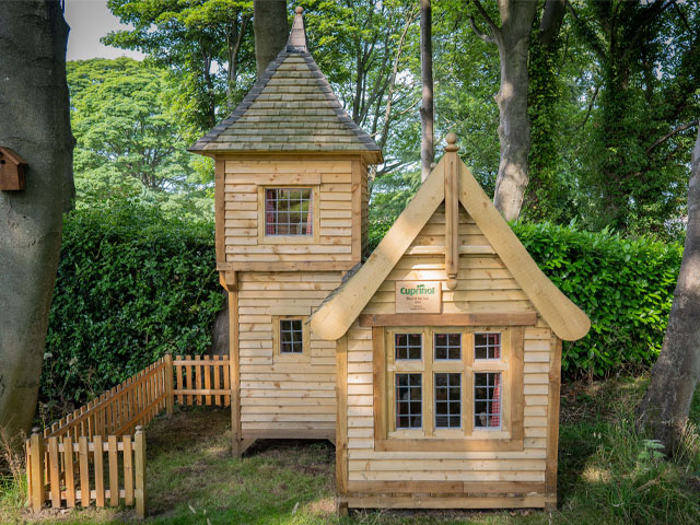 Play house ideas: Mark Campbell built a fairytale castle for his granddaughter, winning Shed of the Year Lockdown category